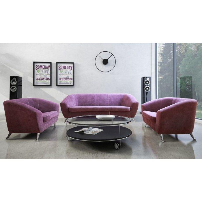 Zestaw wypoczynkowy Lira 3+1+1. Nowoczesny i gustowny design idealnie wpisuje się w minimalistyczne wnętrze