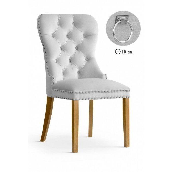 Krzesło MADAME II - Srebrny velvet
