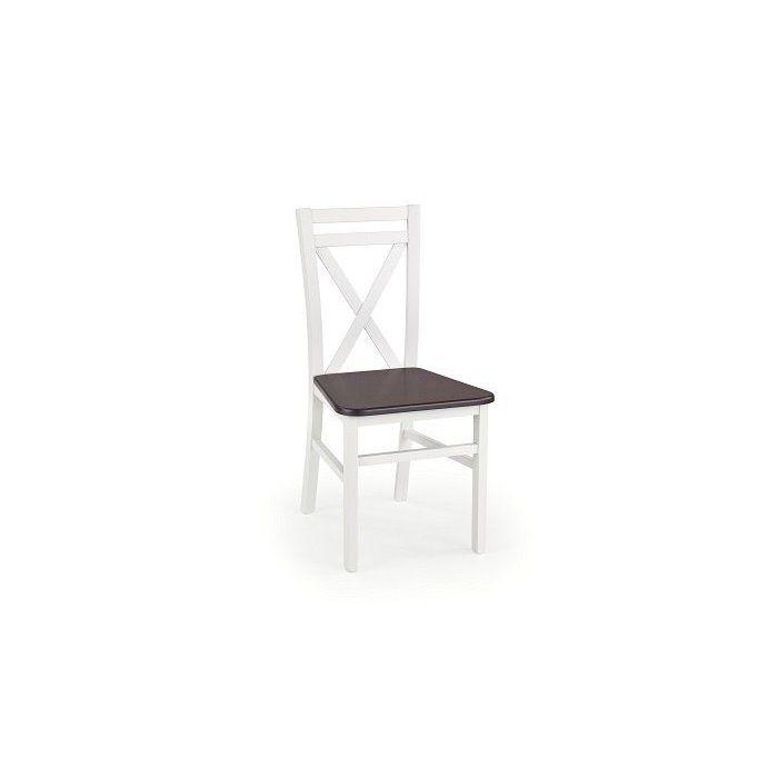 Krzesło DARIUSZ 2 biały / ciemny orzech - zdjęcie