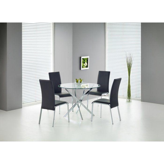 RAYMOND stół, blat - transparentny, nogi - chrom (2p 1szt) - RAYMOND stół, blat - transparentny, nogi - chrom (2p 1szt)