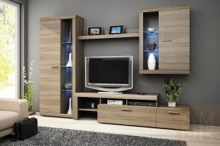 aranżacja - meble i telewizor