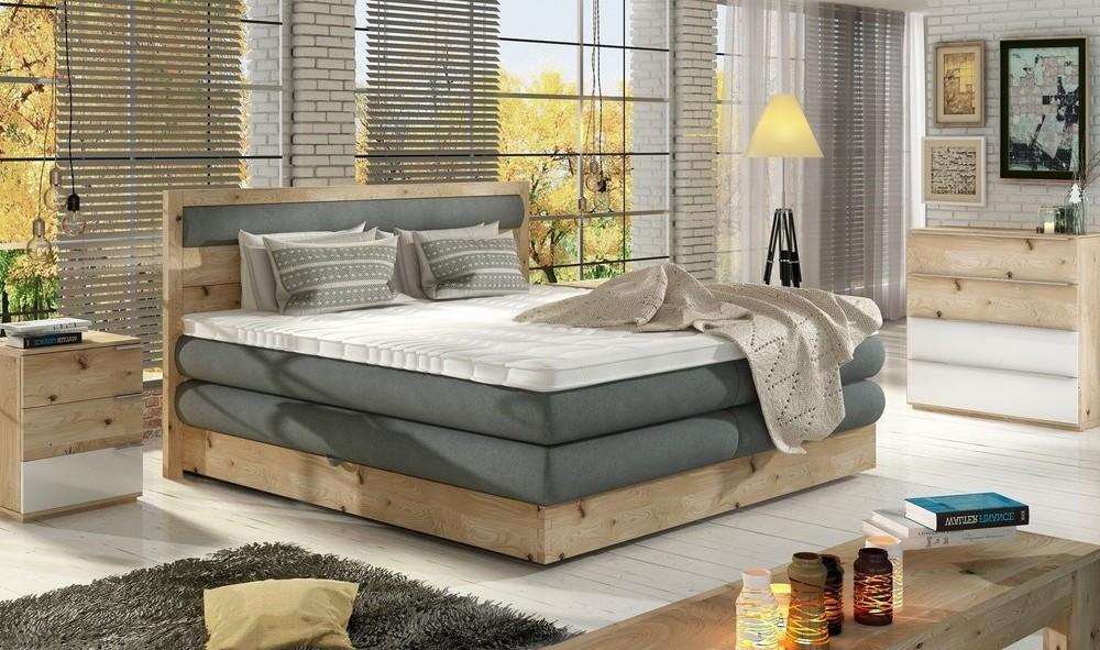 Dębowe łóżko diori